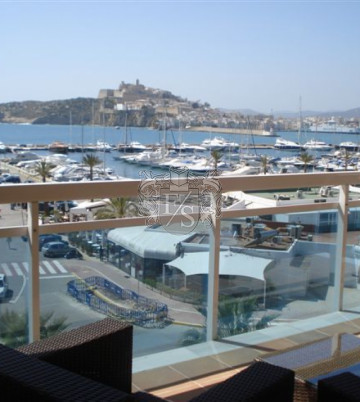 Luxury apartment with view over the port of IBIZA